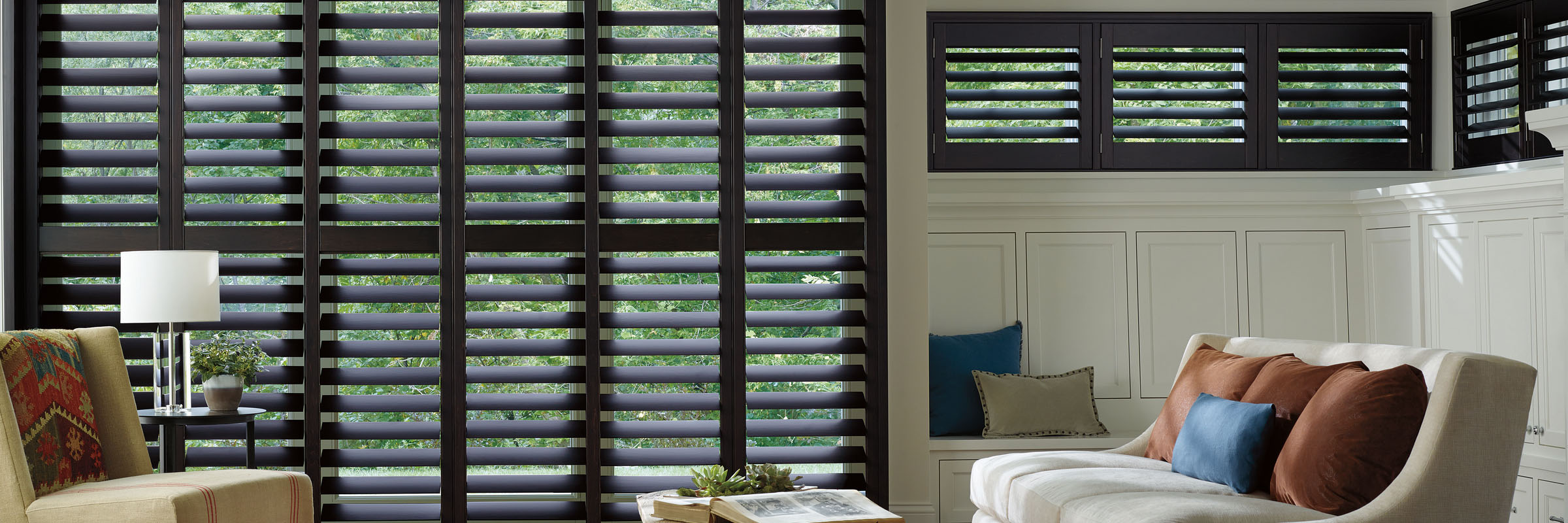 Hunter Douglas Heritance Hardwood Shutters for Living Rooms Near Fairfield and Fremont, California (CA)
