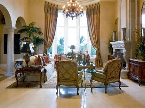 Custom Draperies and Treatments Near Fairfield, San Jose and Fremont, California (CA) in Home Living Rooms