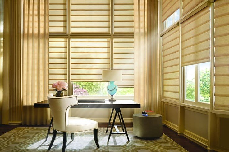 Customizing your Home With Motorization Near Fremont, California (CA) like Office Vignette Shades using PowerView App