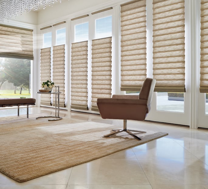 Hunter Douglas Vignette Modern Roman Shades Savings Near Austin, Texas (TX)